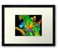 Butterflies expressing romance Framed Print