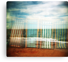 I do like to be beside the holga seaside Canvas Print