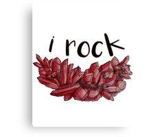 """I Rock"" Ruby Canvas Print"