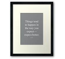 Tobias Sloane Quote Series 1 Framed Print