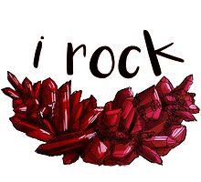 """""""I Rock"""" Garnet by Andy Atlas"""