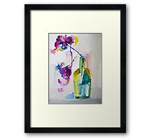 Flowers in Gin Framed Print