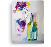 Flowers in Gin Canvas Print