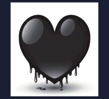 black heart dripping One Piece - Short Sleeve