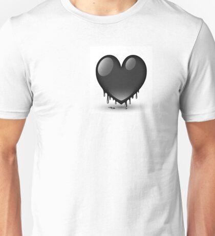 black heart dripping Unisex T-Shirt