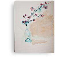 Wax flower still life Canvas Print