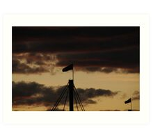 Westgate Bridge Flag Art Print