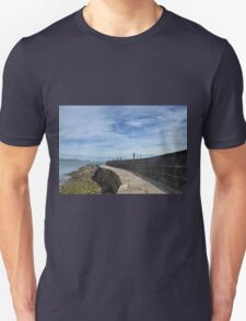 Harbour Wall at Lyme Dorset UK Unisex T-Shirt