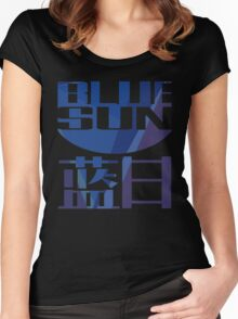 Firefly Serenity Blue Sun Logo Women's Fitted Scoop T-Shirt