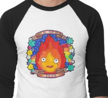 Calcifer - Let all your bacon BURN. Men's Baseball ¾ T-Shirt