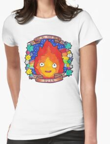Calcifer - Let all your bacon BURN. Womens Fitted T-Shirt