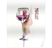 Red wine in glass Poster