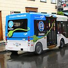 Electric Bus in Quebec City by Laurel Talabere