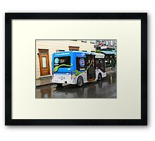 Electric Bus in Quebec City Framed Print