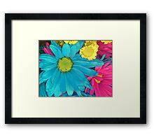 Flowers with basic colors Framed Print
