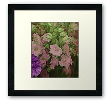 Nice but generic flowers Framed Print