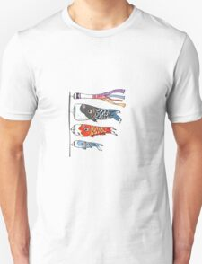 Japanese Koinobori (Plain Background) T-Shirt