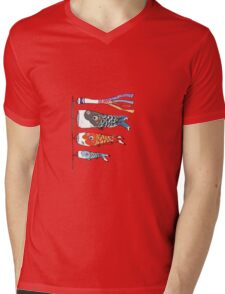 Japanese Koinobori (Plain Background) Mens V-Neck T-Shirt