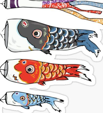 Japanese Koinobori (Plain Background) Sticker