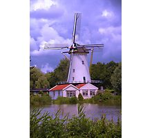 A Dutch Mill in HDR Photographic Print