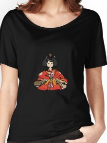 Japanese Hina Doll (Plain Background) Women's Relaxed Fit T-Shirt