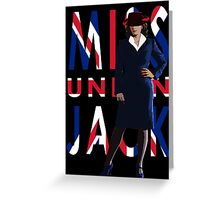 Miss Union Jack Greeting Card