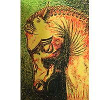 Ancient Persian Horse Head Photographic Print