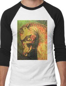 Ancient Persian Horse Head Men's Baseball ¾ T-Shirt