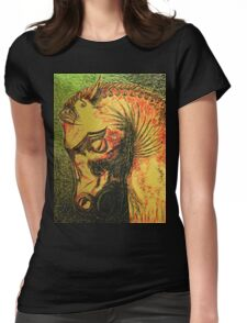 Ancient Persian Horse Head Womens Fitted T-Shirt