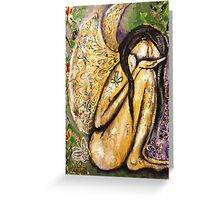 Sensitive Wings - Angel Cleansing in Nature Greeting Card