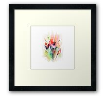 Floral watercolor illustration  Framed Print