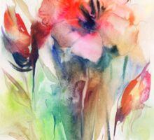 Floral watercolor illustration  Sticker