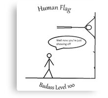 Human Flag Metal Print