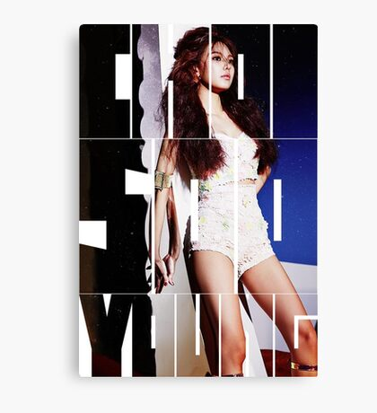 Girls' Generation (SNSD) Choi Sooyoung 'Lion Heart' Canvas Print