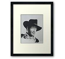 John Wayne. Framed Print