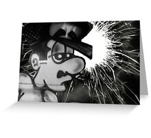 smokin sparkler Greeting Card