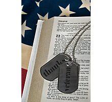 Veteran's Faith Photographic Print