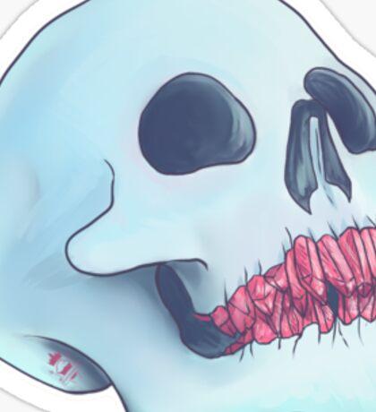 Witch Ritual - crystal teeth skull Sticker