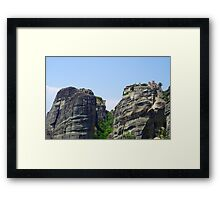 High Upon The Mountain Top Framed Print
