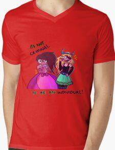 Be an individual! Mens V-Neck T-Shirt