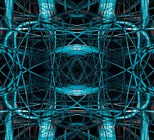 Abstract futuristic tangled pattern by steveball