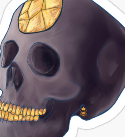 Witch Ritual - Black crystal skull Sticker