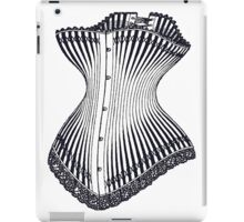Hourglass Corset Illustration 1878 iPad Case/Skin