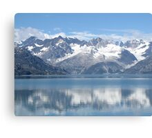 reflection of mountains Canvas Print