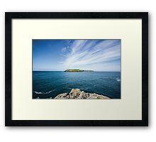 Skomer Island Framed Print
