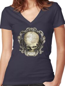 Vanitas Mundi Women's Fitted V-Neck T-Shirt