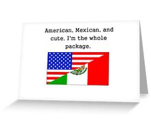 American Mexican And Cute Greeting Card