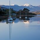 Boats on the Huon River, Franklin, Tasmania #2 by Chris Cobern