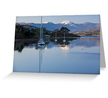 Boats on the Huon River, Franklin, Tasmania #2 Greeting Card