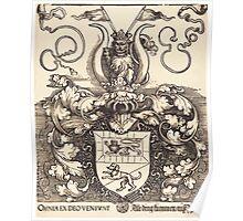 Albrecht Dürer or Durer Coat of Arms of Lorenz Staiber Poster